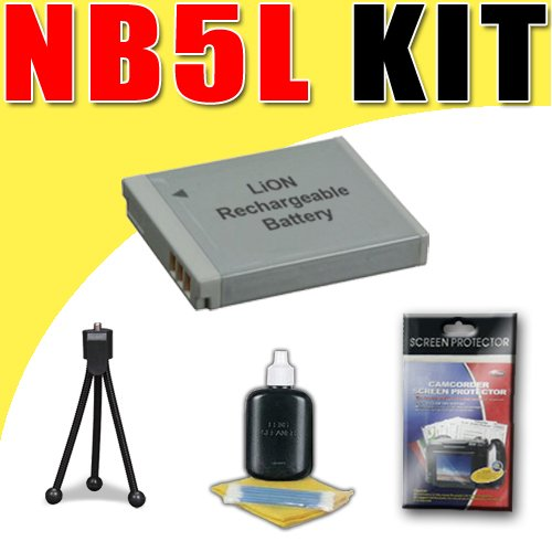 NB5L Lithium Ion Replacement Battery for Canon Powershot S100 SD990IS SD970IS SD890IS SD880IS SD790IS Digital Cameras DavisMAX Bundle