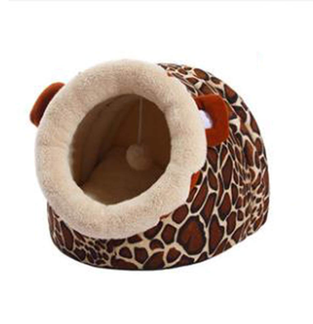 Brown 45cm42cm34cm Brown 45cm42cm34cm Plush Cat Bed, Warm, Cozy and Durable Cat Bed, Suitable for Large Cats and Kittens(45cm42cm34cm,Brown)