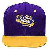 NCAA by Outerstuff NCAA Lsu Tigers Kids 2-Tone Flat Visor Snapback, Regal Purple, Kids One Size