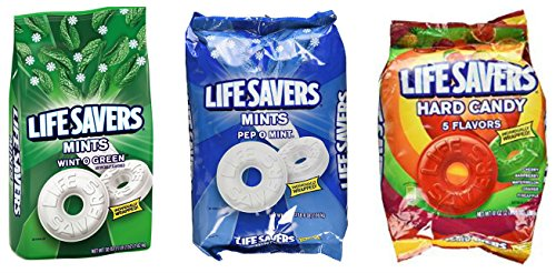 Life Savers hard candy and mints bundle featuring Life Savers Wint-O-Green, Pep O Mint, and Life Savers Hard - Saver Shipping What Is