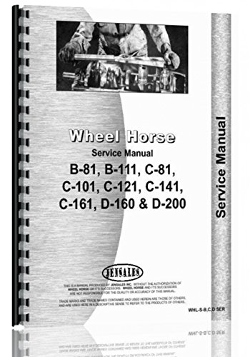 Price comparison product image Wheel Horse B-81 Lawn & Garden Tractor Service Manual