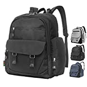 Baby Diaper Bag Backpack Tote - Bonus Baby Bag Changing Pad, Insulated Pockets, Stroller Straps - Fashionable, Unisex, Designer Nappy Backpack Diaper Bags That Are Ergonomic & Comfortable - Black