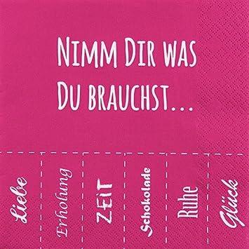 Spruche Liebe Lustig.20 Servietten 33x33 Cm Nimm Dir Was Du Brauchst Spruche