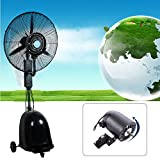 "GDAE10 Air Circulator Fan, 26"" Commercial High Velocity Outdoor Indoor Mist Fan Industrial Cool Black (US Stock)"