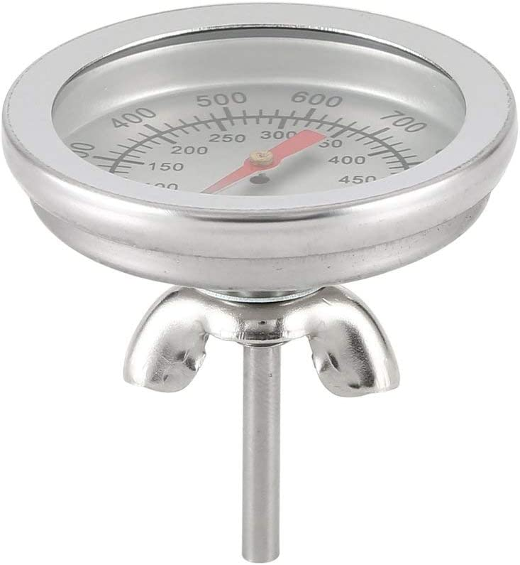 Swiftswan Stainless Steel BBQ Charcoal Grill Pit Wood Smoker High Temperature Gauge Thermometer Replacement for Gas Grill Models