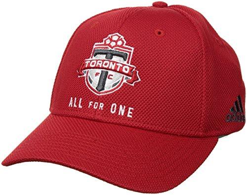 - adidas MLS Toronto FC Adult Men Wordmark Mesh Structured Adjustable Hat, One Size, Red