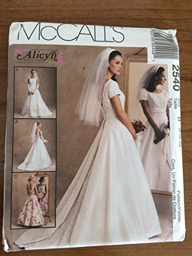 Bridesmaid Mccalls Patterns - McCall's 2540 Sewing Pattern, Misses' Bridal Gown & Bridesmaid's Dress, Size B (8-10-12)