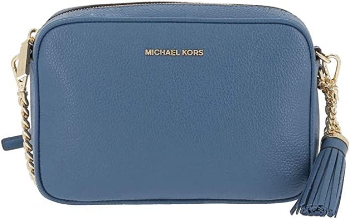 : Michael Kors Ginny Leather Crossbody Bag: Clothing