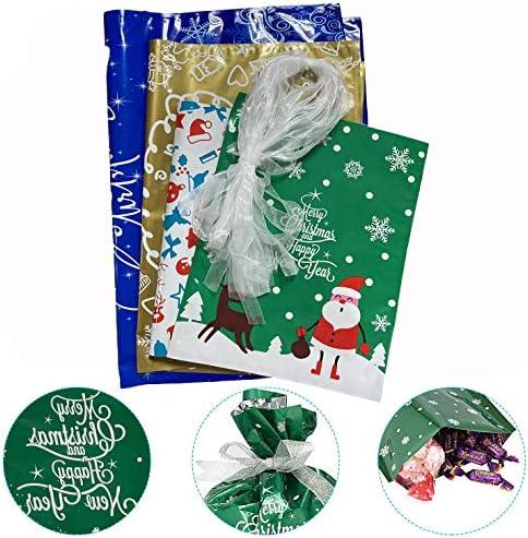 BLAZOR 30 Pezzi Sacchetti da Regalo,Set di Sacchetti Regalo Natale Sacchetti per Feste,Sacchetti Regalo di Capodanno,per Feste di Natale Bomboniere,Regali Matrimonio,Compleanno