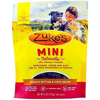 Zukes Mini Natural Peanut Butter Recipe Dog Treat 6 Ounce, Pack of 2