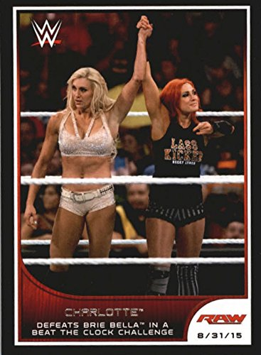 2016 Topps WWE Road to Wrestlemania #84 Charlotte Defeats Brie Bella in a Beat the Clock ()