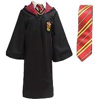Cape de Déguisement Costume de Déguisement Collège avec Cravate pour Enfants ou Adultes (Gryffondor, S)