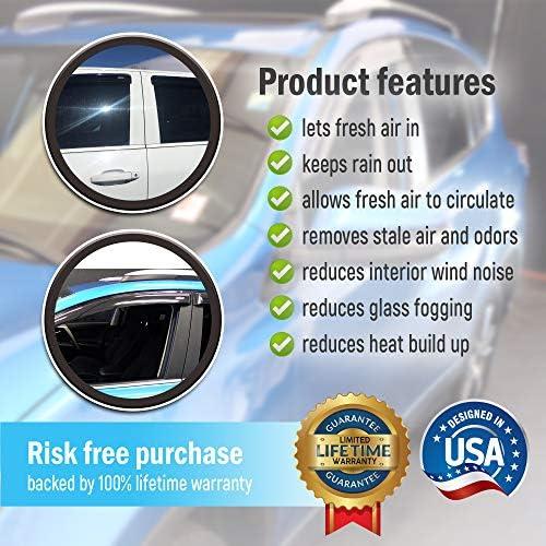 AirSleek Windows Rain Guards for Dodge RAM 2009-2018 Crew and MEGA CAB ONLY Side Window Deflectors Vent Visors Outside Tape Mount Platinum 4 Door