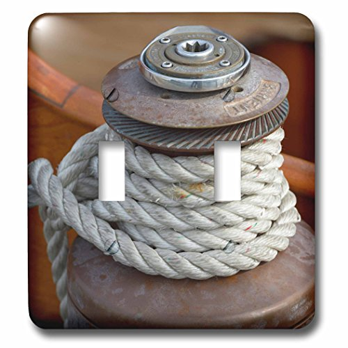 3D Rose LSP_231758_2 USA, Washington State, Port Townsend. Barient Winch on an Old Wood Sailboat Double Toggle Switch