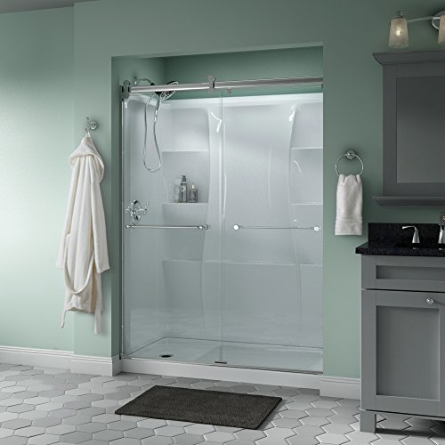 Discover Bargain Delta Shower Doors SD3172686 Windemere 60 x 71 Semi-Frameless Contemporary Slidin...