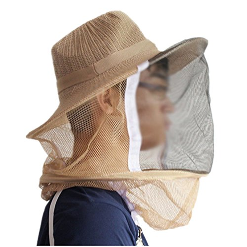 Beekeeper Mask Costume (Gooday Beekeeper Hat With Face Mask Insect Mesh Net Beekeeper Head Face Protector Anti-mosquito Bee Bug Insect Fly Mesh Protective Cover Mask)