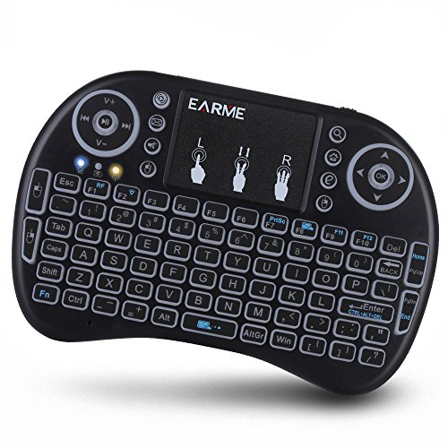 EARME iPazzPort 2.4GHz RF Wireless Backlit Keyboard with Touchpad Mouse smart phone / PC / tablet PC / TV box / laptop