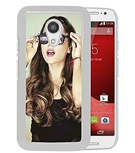 New Unique Custom Designed Case With Ariana Grande 1 White For Motorola Moto G 2nd Generation Phone Case
