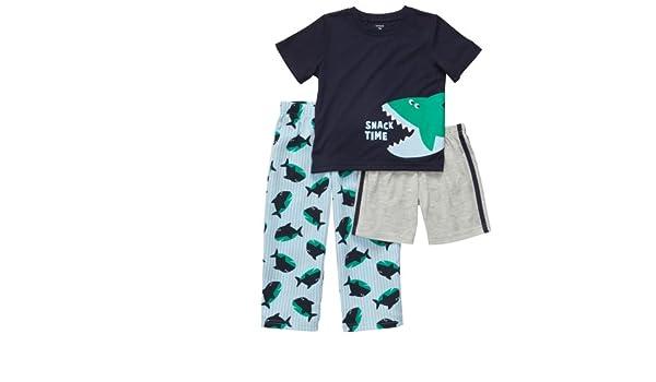 c9b27439e Amazon.com  Carters Baby Boys 3-piece Shark Pajama Set (12M-24M) (12 ...