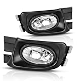 fog light for honda accord - AUTOSAVER88 Fog Lights For Honda Accord 2003 2004 2005 (Real Glass Clear Lens with Bulbs & Wiring Harness)