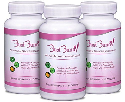 Breast Enhancement Pills w/Vitamin C - 3 Month Supply | #1 Natural Way to Enlarge Breast and Increase Bust Size by BUST BUNNY (Best Breast Enhancement Pills Reviews)