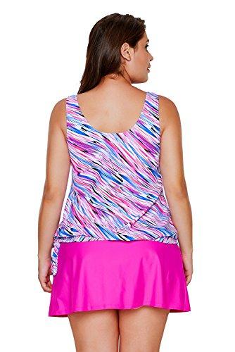 Nuovo multicolore Illusion Tie lati 2PCS Tankini set bikini bikini Swimwear estivo, taglia UK 14EU 42