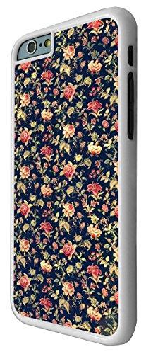 563 - Cute Vintage shabby Chic Floral Roses Navy Design iphone 6 6S 4.7'' Coque Fashion Trend Case Coque Protection Cover plastique et métal - Blanc