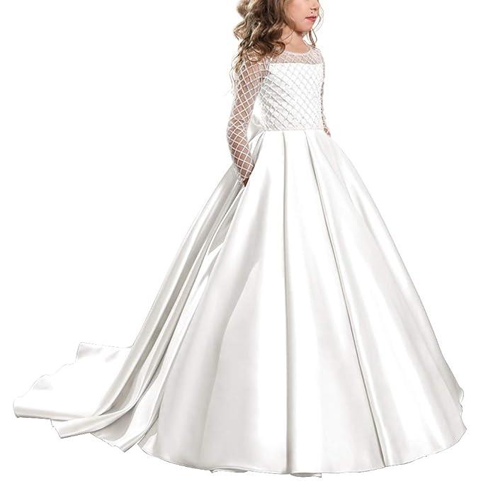 d011d4a480a3 IBTOM CASTLE Vestito Elegante da Ragazza Festa Cerimonia Matrimonio  Damigella Donna Sposa Comunione Battesimo Sera Carnevale