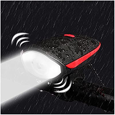 WitMoving Bike Lights with 140db Bike Bell,USB Rechargeable Bicycle Lights IPX6 Water Resistant Front Cycle Lights,Bike Headlight LED Super Bright for Mountain Roads and Night Cycling