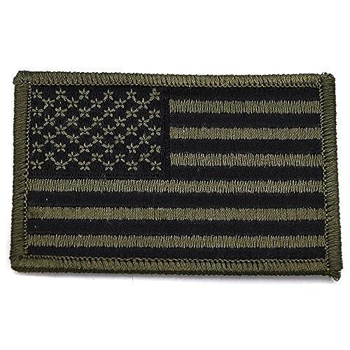 ecusson drapeau usa us kaki vert thermocollant 7,5x5 cm patche badge best