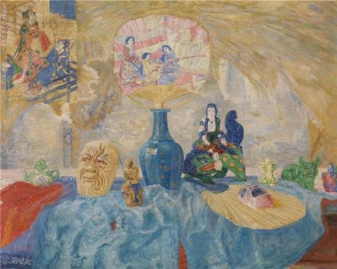 Oil Painting 'James Ensor - Still Life With Chinoiseries, 1907', 20 x 25 inch / 51 x 64 cm , on High Definition HD canvas prints is for Gifts And - Sunglasses Signage For Sale