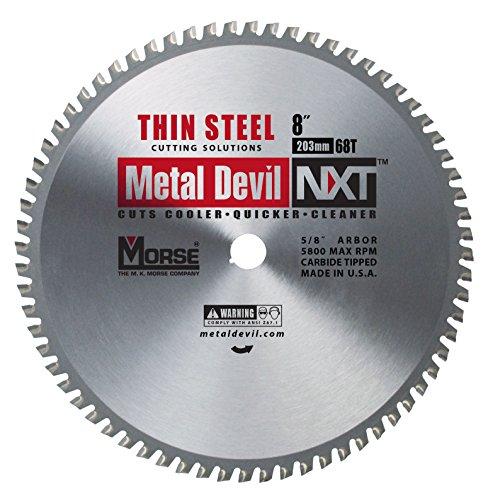 MK Morse CSM868NTSC Metal Devil NXT Metal Cutting Circular Saw Blade, Thin Steel, 8-Inch Diameter, 68 TPI, 5/8-Inch Arbor