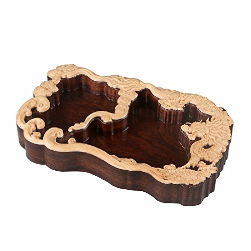 WAWZJ Ashtray Ebony Ashtray Creative Living Room Chinese Retro Solid Wood Ashtray by WAWZJ-Ashtray