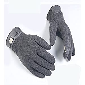 Men's Gloves Cashmere, Lowprofile Winter Warm Gloves Touch Screen Gloves Driving Gloves Cycling Gloves for Men (Gray)