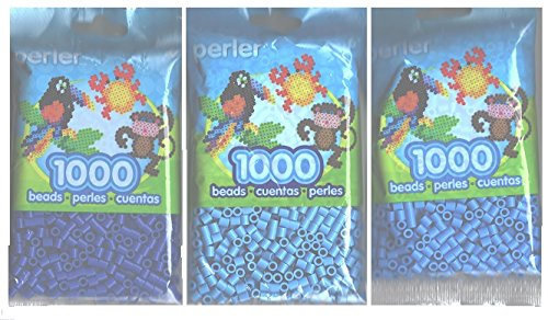 Perler Bead Bag, Group (Dark Blue, Light Blue, Pastel Blue)