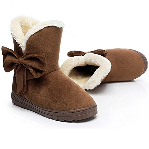 Women's Round Toe Flat Ankle Boots Casual Shoes - 1