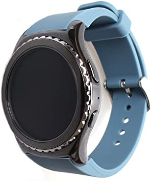 I-SMILE 1PC Silicone Replacement Band for Samsung Galaxy Gear S2 Classic BSM-R732 Smartwatch Watch (Watch Strap Only)