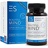 Natural Memory Supplements For 40yo+ Women & Men - 100% Caffeine-Free. Advanced 9-Ingredient Brain Supplement Pills For Memory Guaranteed To Work. Made In USA.