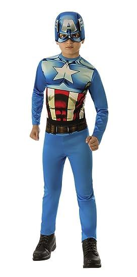 Avengers - Disfraz de Capitán América para niño, talla infantil 5 ...