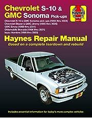 Chevrolet S-10 & GMC Sonoma Pick-ups (94-04). Includes S-10 Blazer & GMC Jimmy (95-05), GMC Envoy (98-01) & Olds Bravada/Isuzu Hombre (96-01) Haynes Repair Manual: Chevrolet S-10 & GMC Sonoma pick-ups (1994 thru 2004), Chevrolet Blazer & GMC Jimmy (1995 thru 2005), GMC Envoy (1998 thru 2001), Oldsmobile Bravada (1996 thru 2001) & Isuzu Hombre (1996 thru 2000)