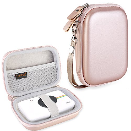Canboc Shockproof Carrying Case Storage Travel Bag for Polaroid Snap & Polaroid Snap Touch Instant Print Digital Camera, Printer Protective Pouch Box, Rose Gold
