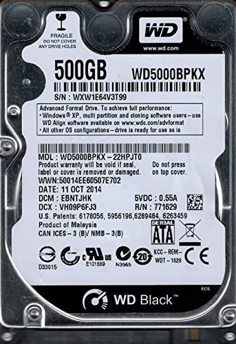 Amazon Com Western Digital Wd5000bpkx 22hpjt0 500gb Dcm Ebntjhk Computers Accessories
