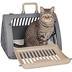 SportPet Designs, Caja de Viaje Plegable para Gato, 15.2x18.5x14.2