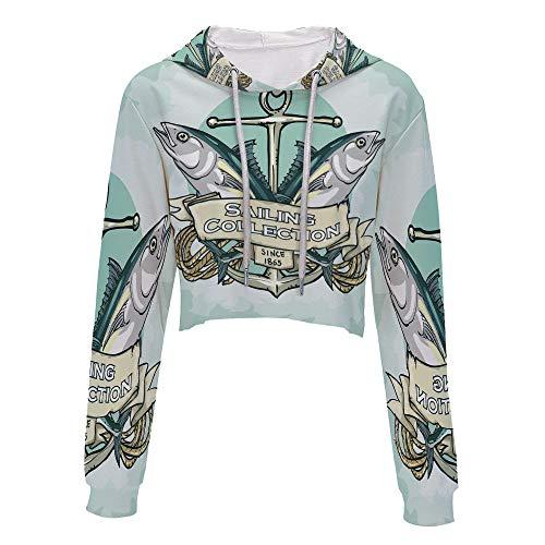Sweatshirt Women 3D Pullover Sweatshirts L/XL Sailing Collection Since 1865 Vin