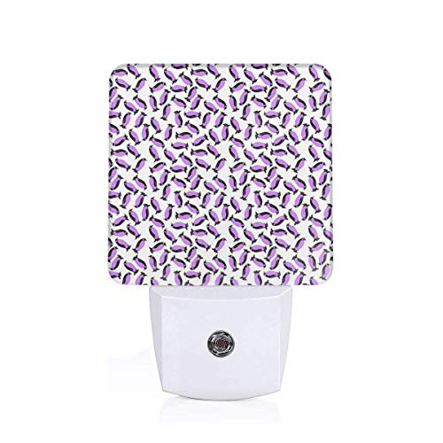 Nightlights for Adults Very Chill Penguins - Purple_650 Auto Sensor LED Dusk to Dawn Night Light Plug in Indoor for Adults
