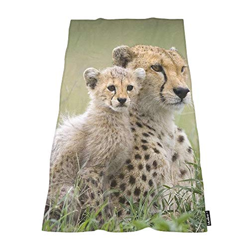 Cheetah Bath - Moslion Soft Bath Towels Wild Animal Cheetah Comfy Bathing/Beach/Camping Towel for Women Men Girls Boys Large Size 64x32 Inches