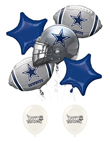 Dallas Cowboys Birthday Party Balloon Bouquet Bundle