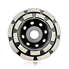 Product Name:  4.5-Inch Double-Row Diamond Grinding Cup Wheel Specification:  7/8-Inch Arbor,4-5mm workable thickness, Grits 40-50 Application: For concrete, Masonry, and some other construction material Feature: 1.Technology: Sintered 2.Low ...
