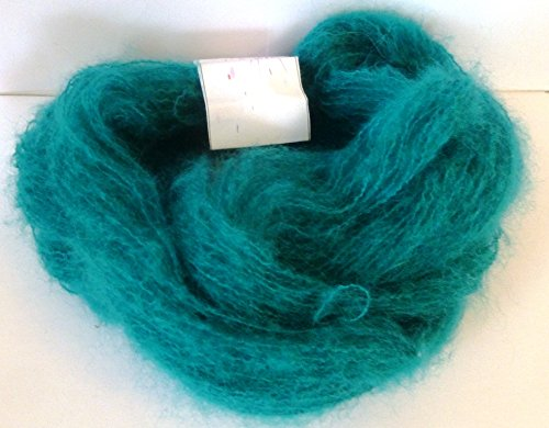 Italian Teal Blue Green Brushed Mohair Blend ()