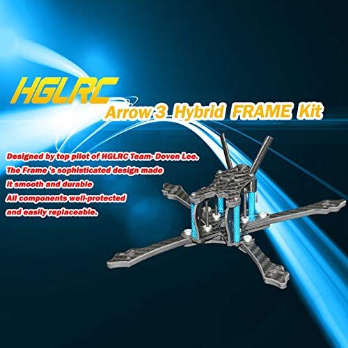Wikiwand HGLRC Arrow 3 Hybrid FPV Racing Drone Durable Frame Kit for Mini Quadcopter by Wikiwand (Image #3)